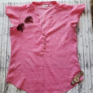 New York & Company • Pink Butterfly Sleeve Blouse